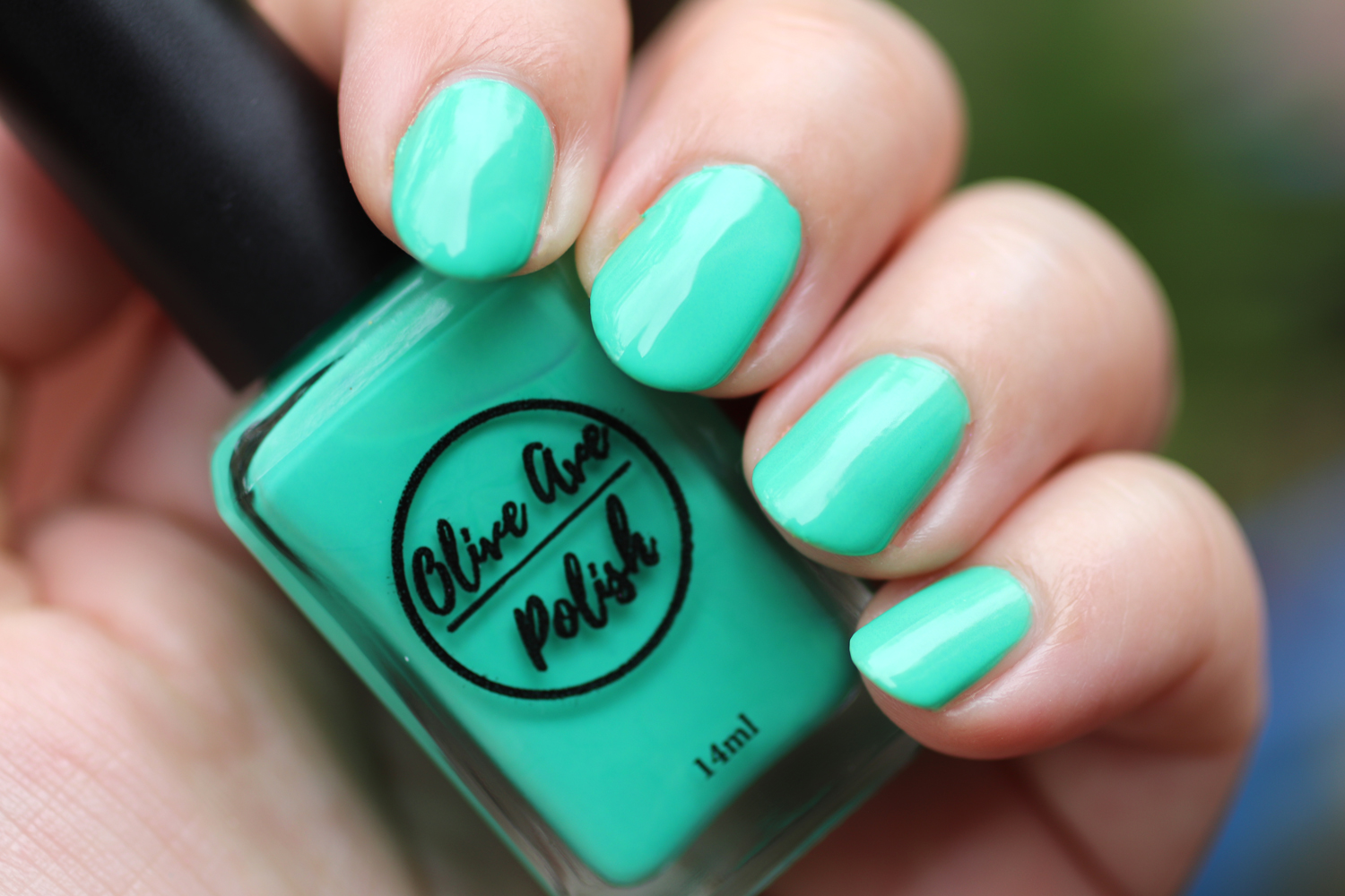 Palm Trees light green nail polish by Olive Ave