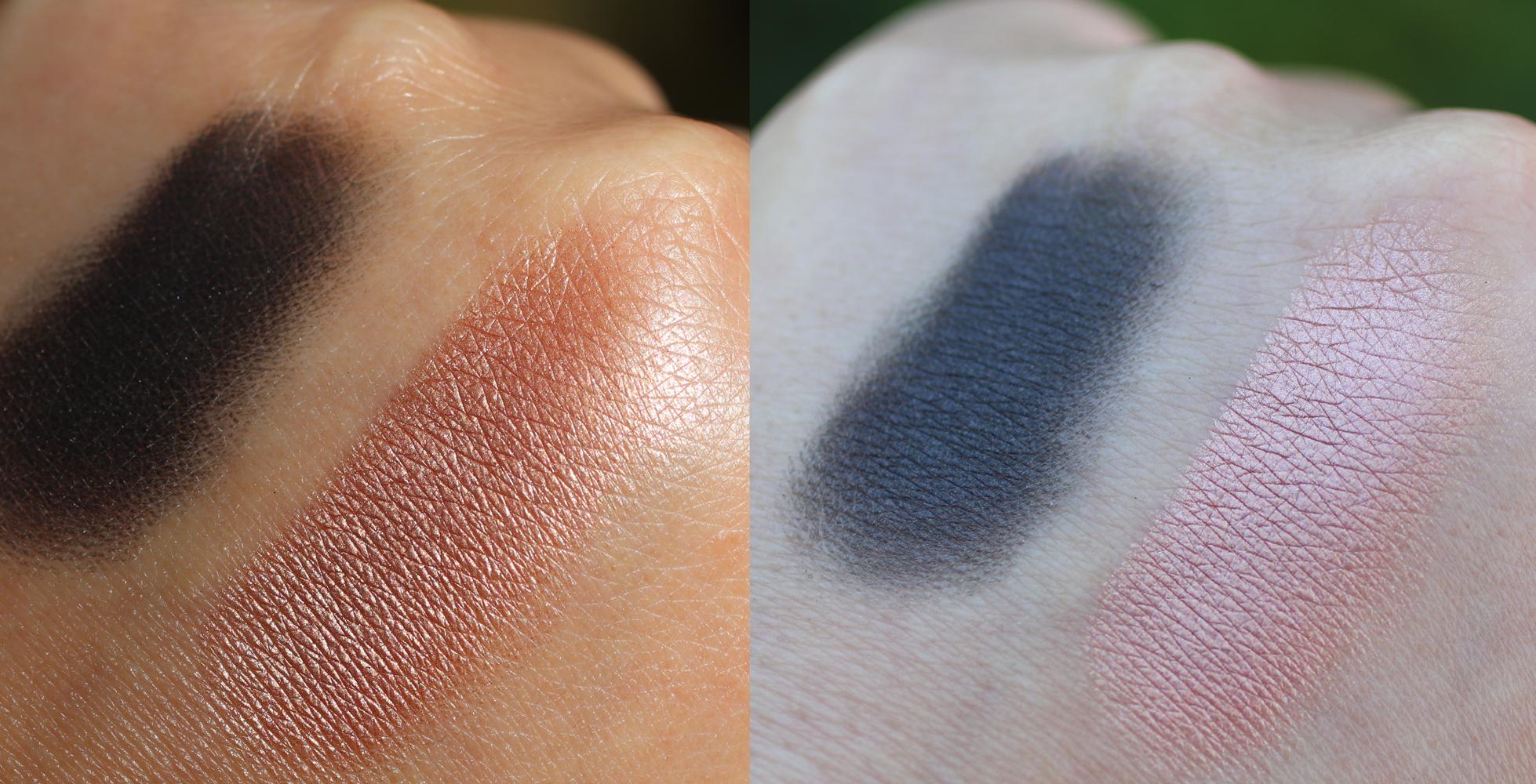 INIKA cruelty free Eyeshadow Duo Black Sand swatch