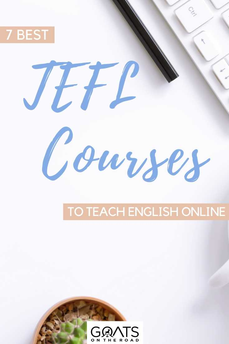 """""""7 Best TEFL Courses To Teach English Online"""