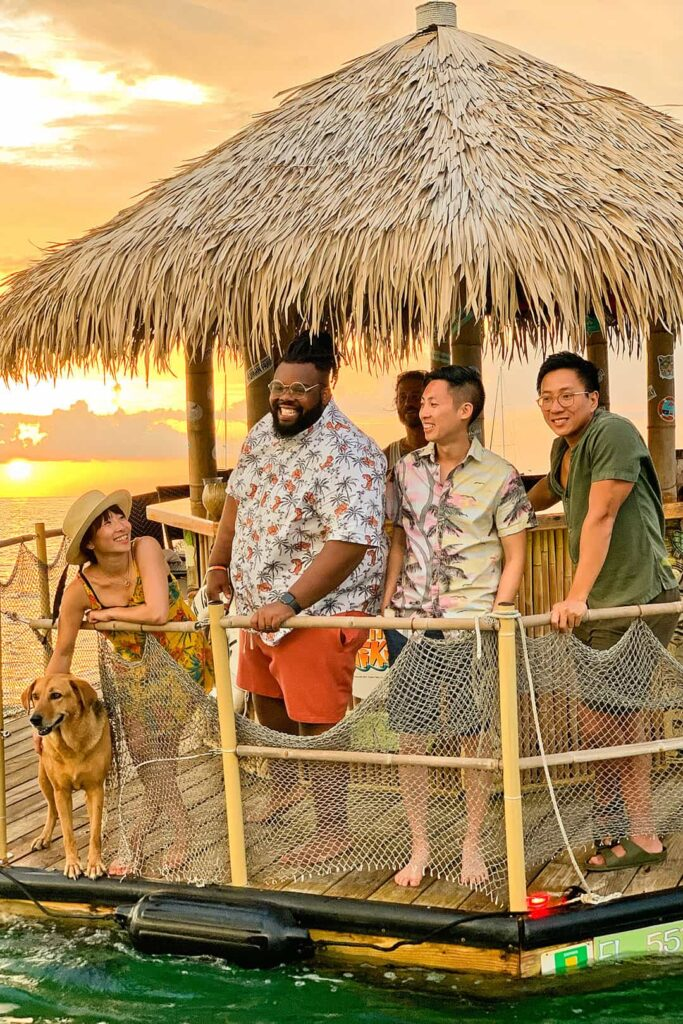 floating tiki bar + 7 incredible things to do in Key West Florida