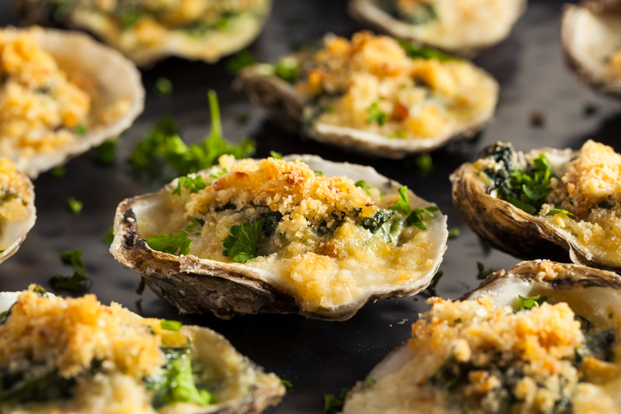 oysters rockefeller in New Orleans