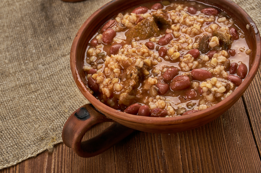 red beans and rice meal in new orleans