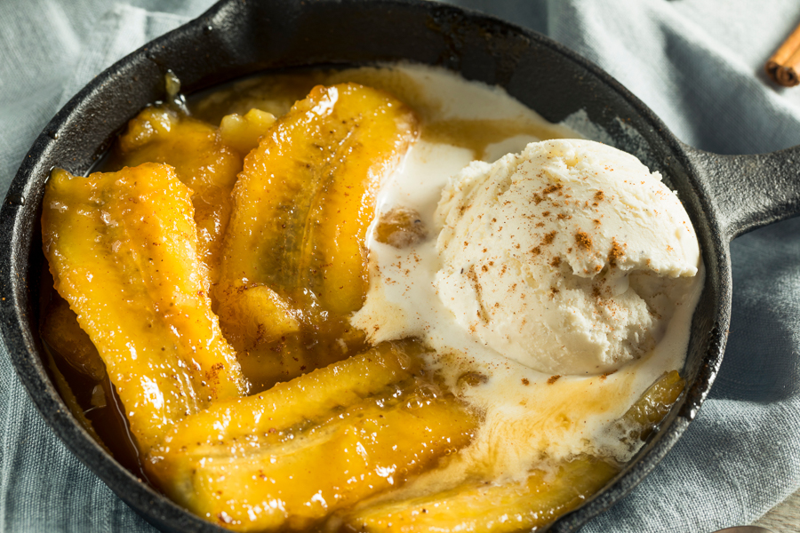 bananas foster is a top food in new orleans