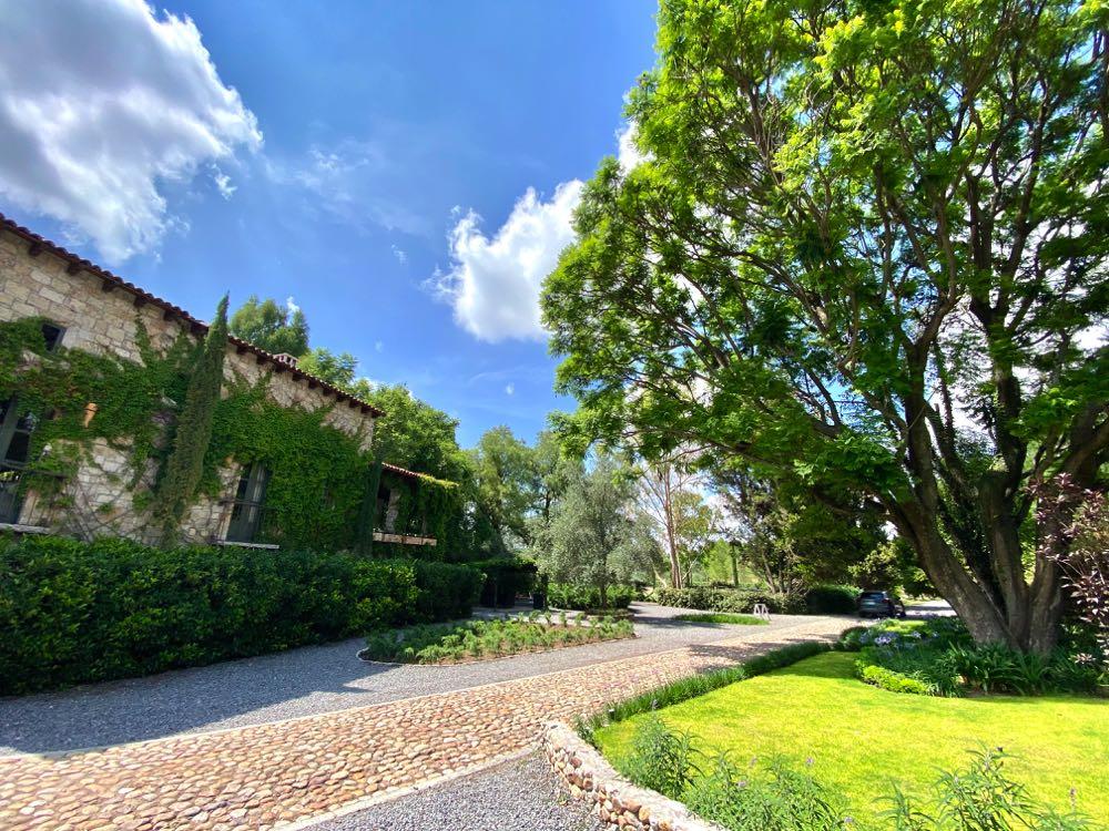 entrance to la santisima trinidad winery near San Miguel