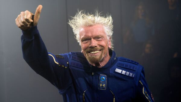 Richard Branson, seen here in 2019, will head to space on his company Virgin Galactic