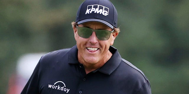 Phil Mickelson is seen at the Country Club of Virginia in Richmond, Virginia, on Oct. 18, 2020. (Associated Press)