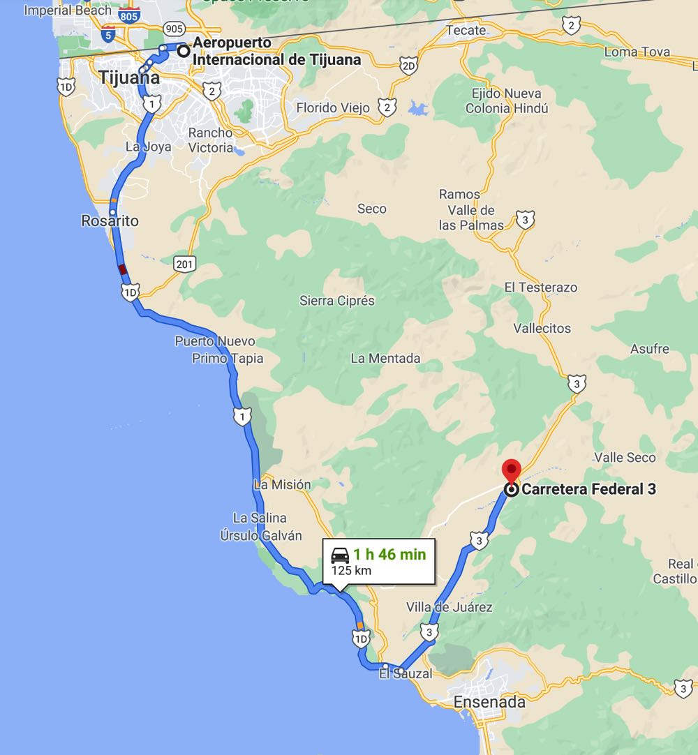 how to get from tijuana airport to valle