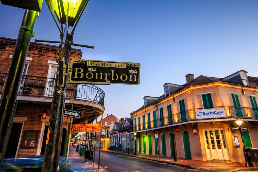 bourbon street in new orleans