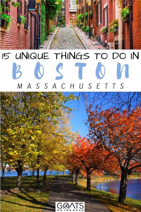 """""""15 Unique Things To Do in Boston, Massachusetts"""