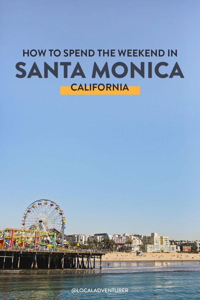 what to do santa monica