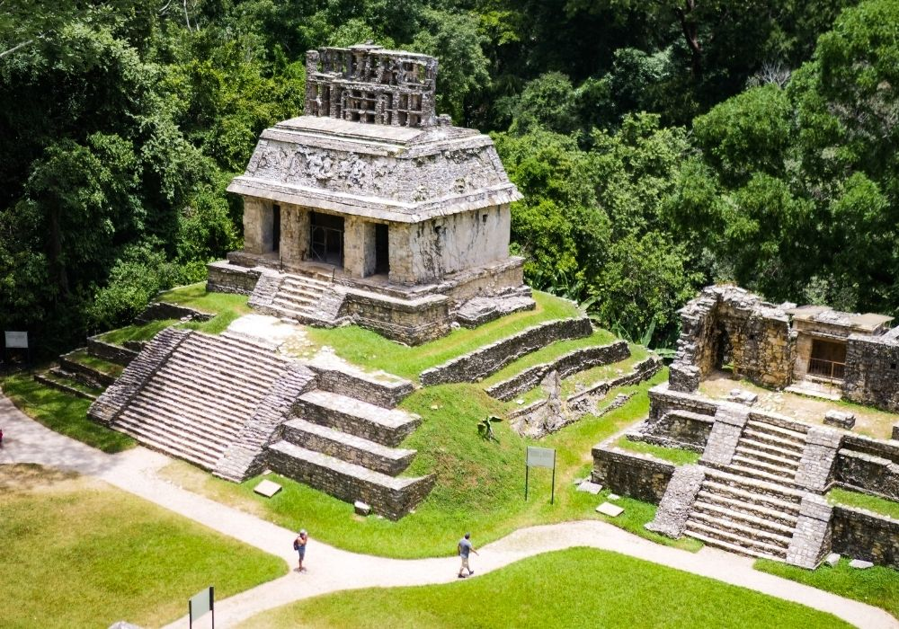 visiting Palenque ruins in Mexico
