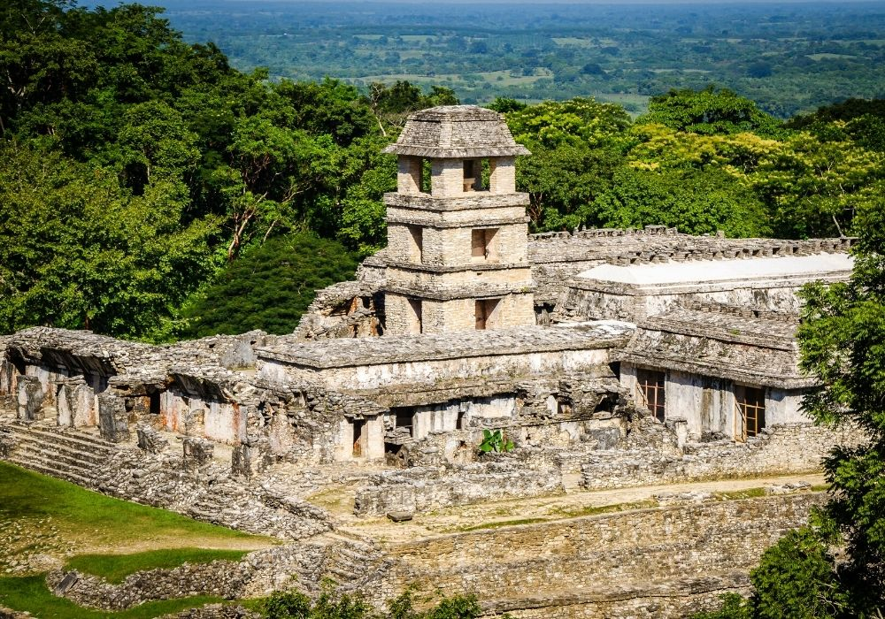 visiting the Palenque ruins in Mexico