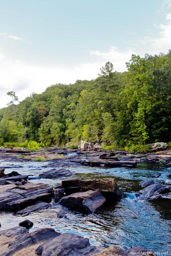 On the Set of Mockingjay - Sweetwater Creek State Park, Lithia Springs, Georgia // localadventurer.com