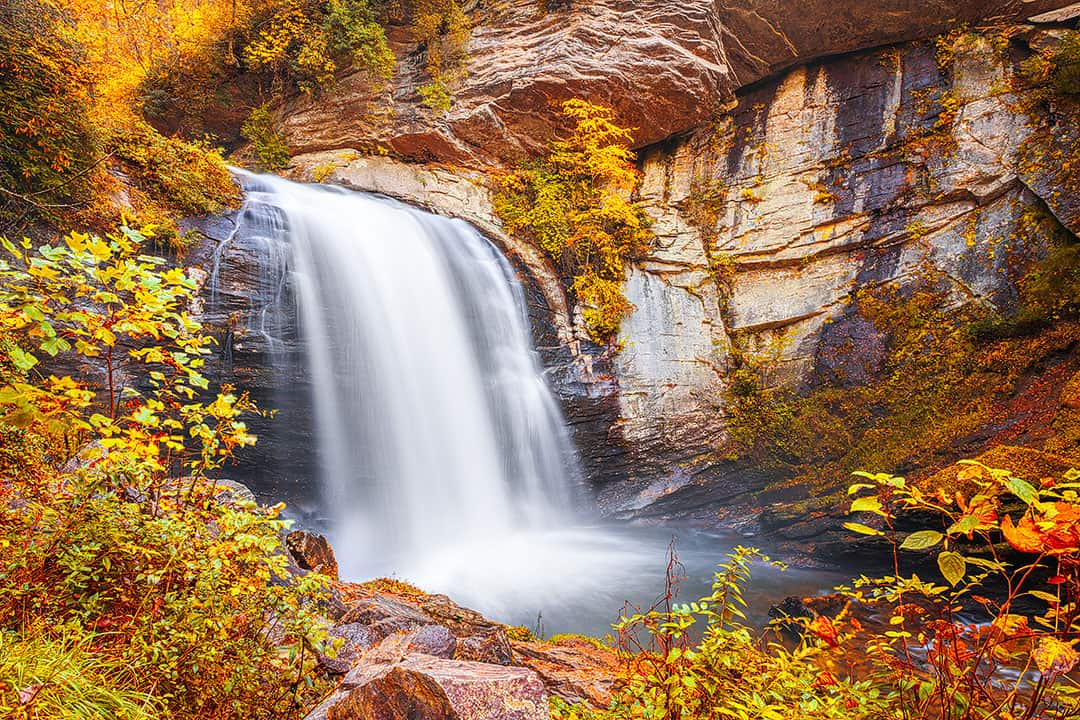 Looking Glass Falls NC + 15 Best Hikes Near Asheville NC