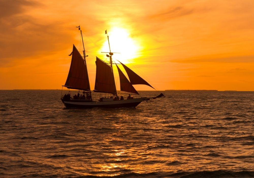 sunset cruise off Key West