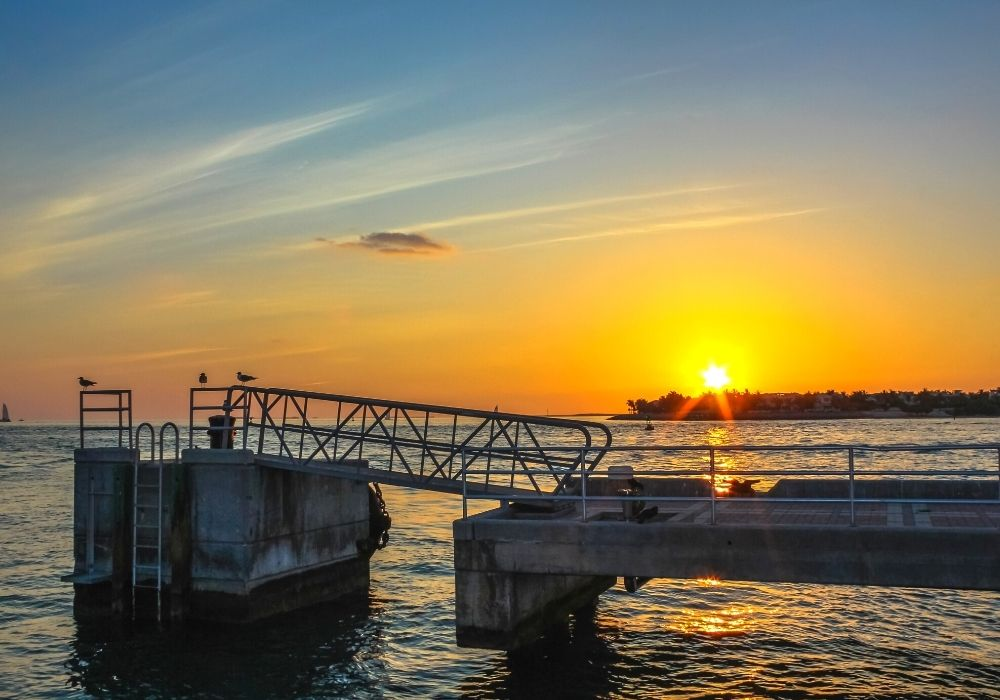 sunset at Mallory Square Dock