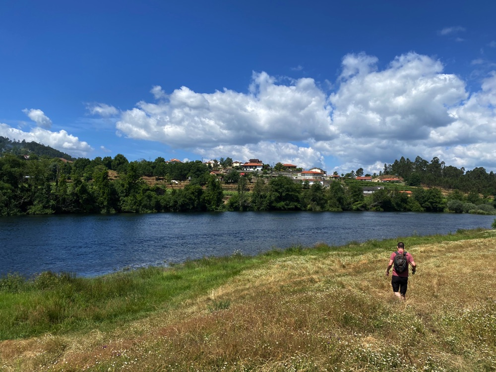 fly fishing portugal river with a rv
