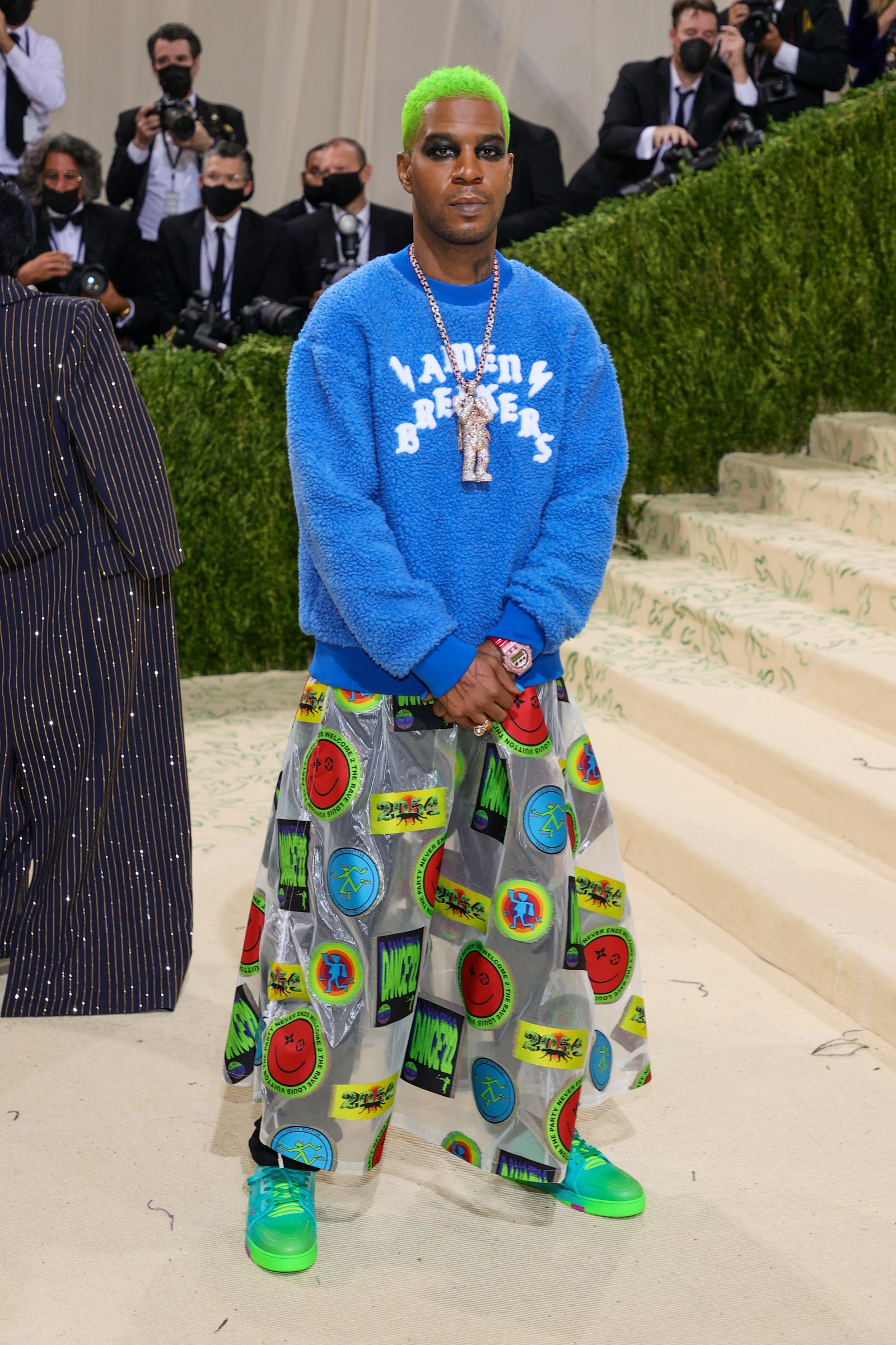 NEW YORK NEW YORK SEPTEMBER 13 Kid Cudi attends The 2021 Met Gala Celebrating In America A Lexicon Of Fashion at...