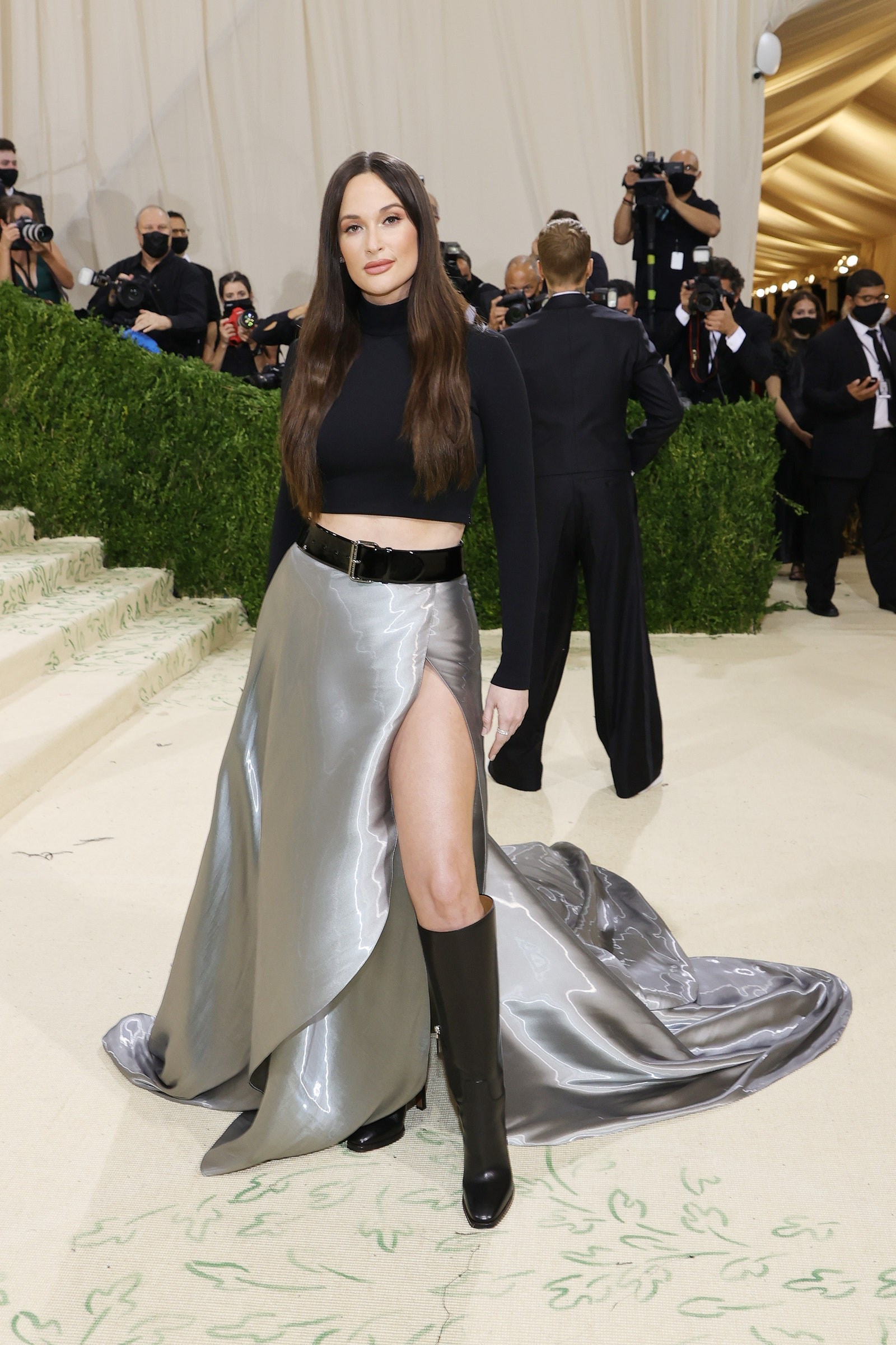 NEW YORK NEW YORK SEPTEMBER 13 Kacey Musgraves attends The 2021 Met Gala Celebrating In America A Lexicon Of Fashion at...