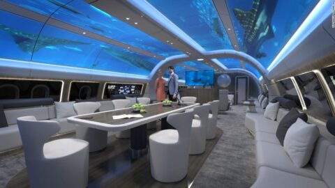 The airplane concept with an 'underwater' cabin